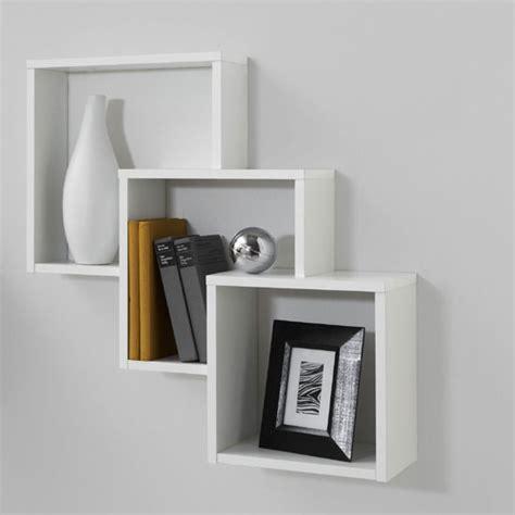 White Wooden Wall Shelves Shelving Units Modern Wall White Wooden