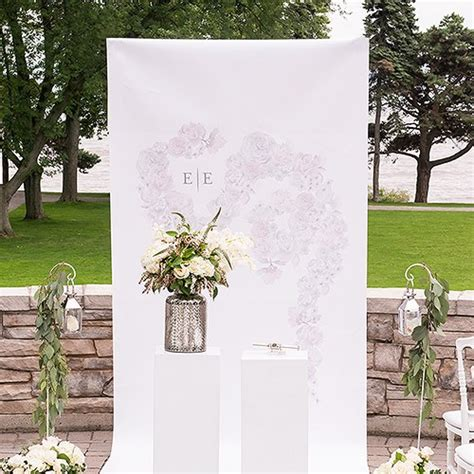 Wedding Backdrop Canvas by Floral Dreams Personalized Canvas Photo Backdrop The