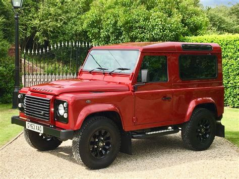 red land rover defender used firenze red land rover defender for sale essex