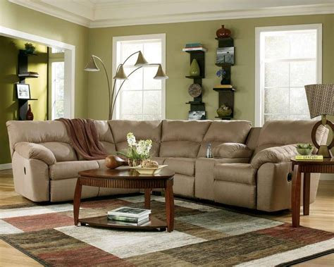 mocha reclining sectional rent to own ashley reclining sectional in mocha