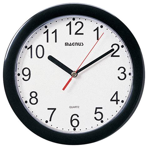 black wall clocks modern 8 quot dia black wall clock plastic modern wall