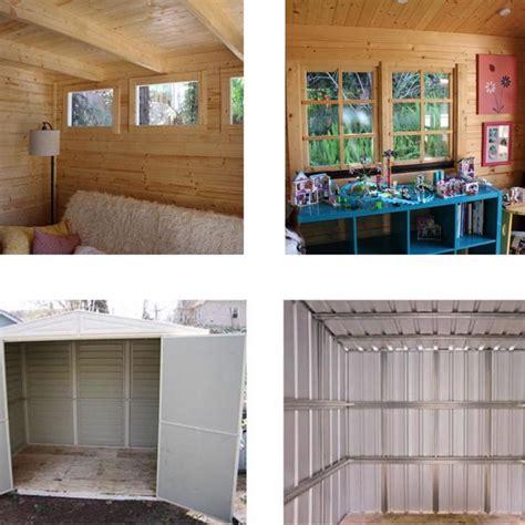 wooden sheds  finished interior