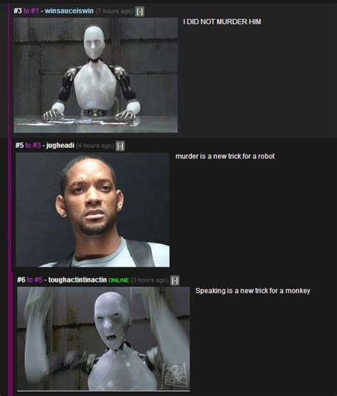I Robot Meme - trying to out logic a robot