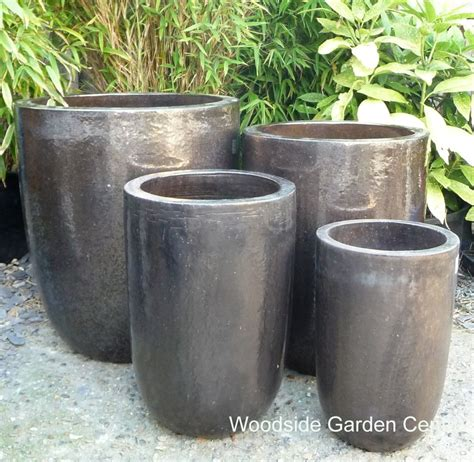 Large Black Outdoor Pots Large Bronze Glazed Garden Pot U Planters