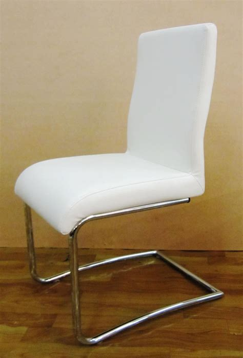Furniture Naples Z Shape Black Faux Leather Modern Dining Cheap White Dining Chairs