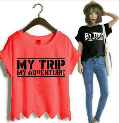 Blouse Cewek Murah Blouse Mumer Atasan Cewe model baju kaos cewe baju kaos my trip my adventure mtma