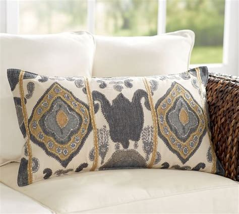 pottery barn sofa pillows chiara ikat lumbar pillow cover pottery barn