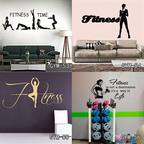 home gym wall decor new vinyl wall sticker removable wall decor fitness gym