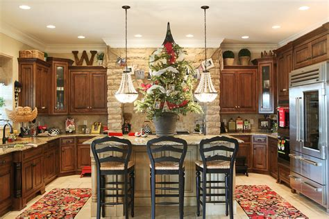 ideas to decorate a kitchen amazing tree ribbon decorating ideas for kitchen