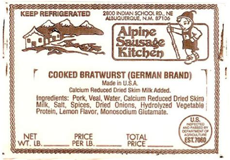 Alpine Sausage Kitchen by Two Recalls Of Beef Pork Products Poultry