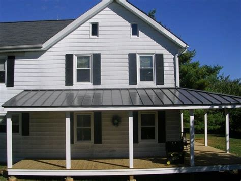 Metal Roof Porch metal roof for side porch home