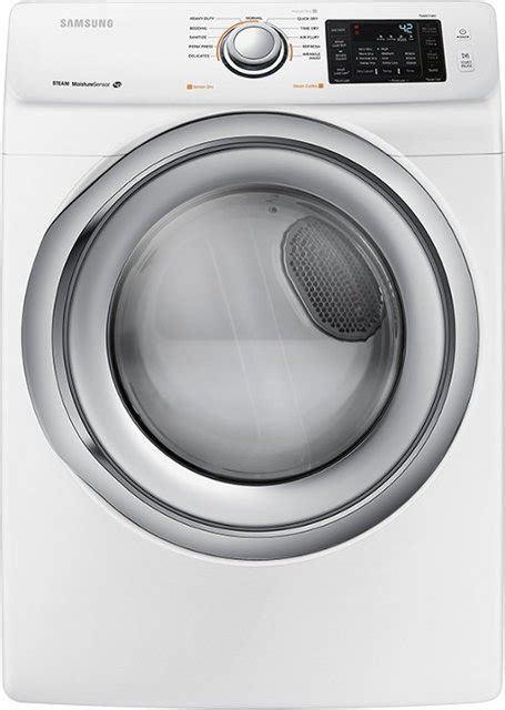 samsung 7 5 cu ft 11 cycle electric dryer with steam white dv42h5200ew best buy