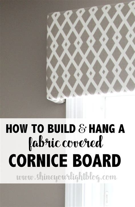 how to hang window treatments fabric covered cornice board how to hang it kitchen