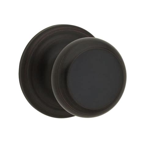 Kwikset Rubbed Bronze Door Knobs shop kwikset juno venetian bronze passage door