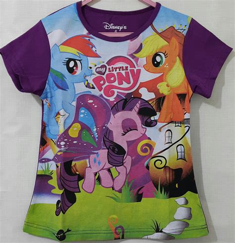 Kaos Anak Import My Pony kaos my pony ungu 1 6 disney grosir eceran baju anak murah berkualitas