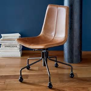 Computer Chair Leather Design Ideas Slope Leather Office Chair West Elm