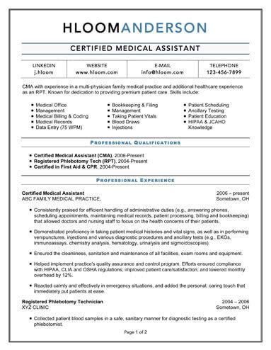 resume template for medical assistant jalcine me