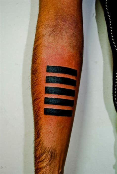 straight line tattoo 187