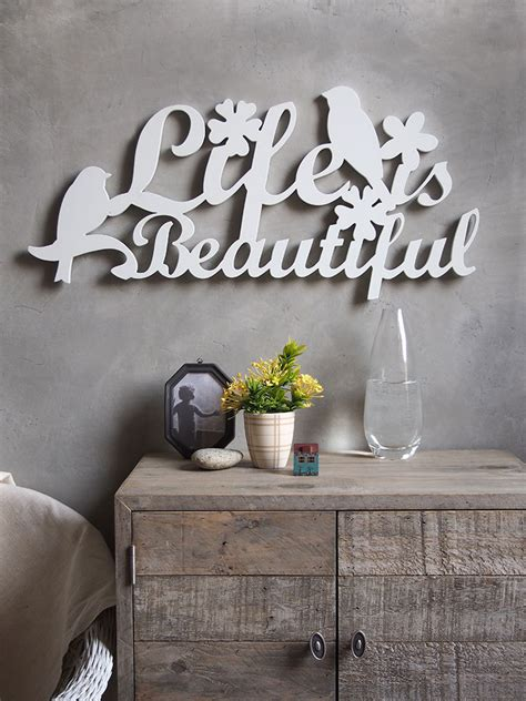 wall word decor wall decor sign cut out word is beautiful