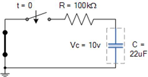 capacitor circuit exles rc discharging circuit tutorial rc time constant