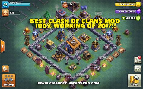 clash of apk mod clash of clans hacks mod apk with builder base 2018