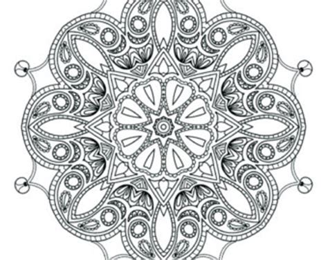 intricate snowflake coloring page printable coloring pages for adults mandala snowflake by