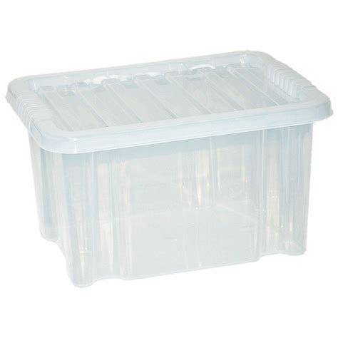 large plastic containers large plastic storage clear box with clear lid container made in u k set of 3 ebay