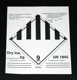 printable dry ice label inf 9836 infecon dry ice class 9 label com pac international