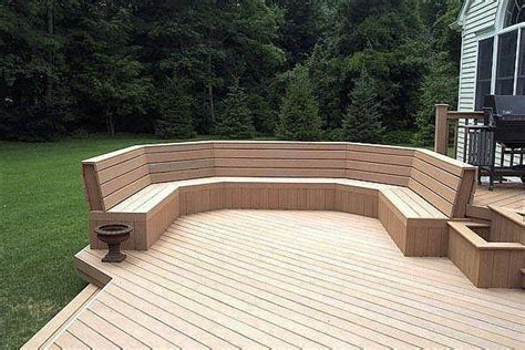 bench seating on deck 17 best ideas about deck benches on pinterest deck bench