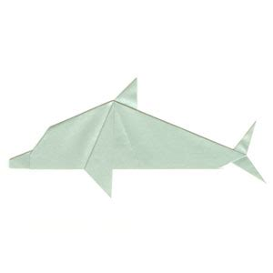 Origami Dolphin - how to make a traditional origami dolphin page 10