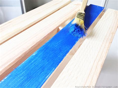 acrylic paint drying time on wood crate on wheels diy storage tutorial