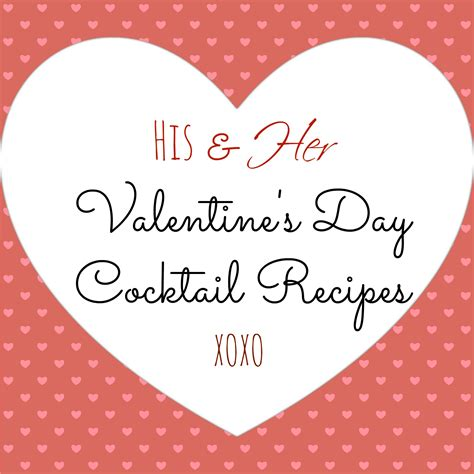 his and s day cocktail recipes dallas food