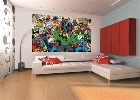 marvel mural marvel home decor wallpaper wallmural