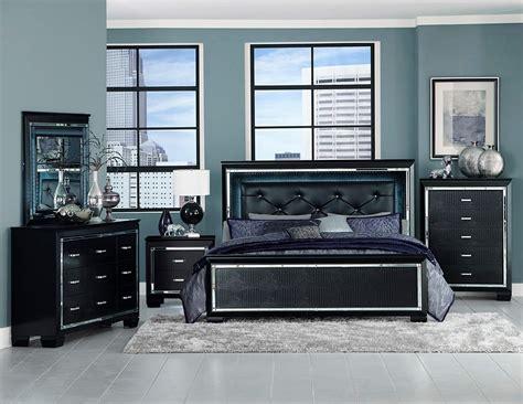 greensburg 4 piece panel bedroom set in black furniture 4 piece allura led panel bedroom set usa warehouse furniture