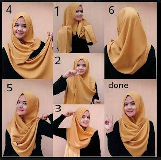 tutorial hijab simpel modis pashmina segi empat jasmin