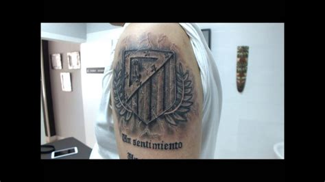 tattoo escudo atletico de madrid efecto piedra youtube