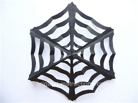 Origami Spider Web - kirigami spiderweb