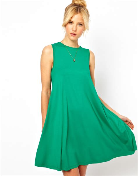 swing clothing uk pretties closet asos sleeveless swing dress