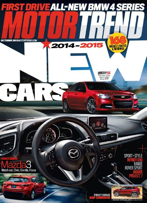 motor trend subscription motor trend magazine subscription deal 1 year for 4 50