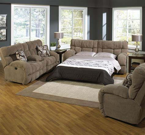 Catnapper Sleeper Sofa Catnapper Bryce Qn Sleeper Sofa Reclining Lovseat And Chair Efo Furniture Outlet Reclining