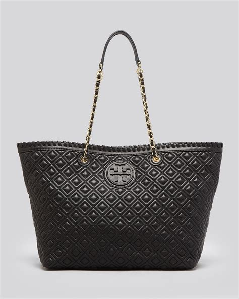Burch Marion East West Tote Black lyst burch tote marion quilted small east west in