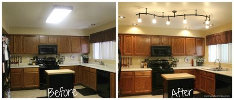 kitchen spot lights mini kitchen remodel new lighting makes a world of