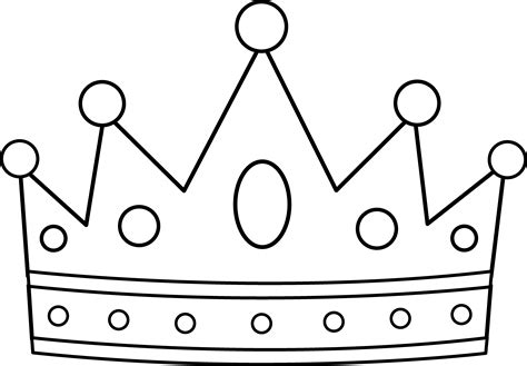 template of crown crown coloring pages to and print for free