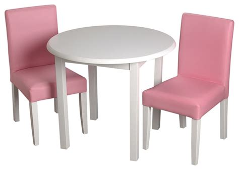 Table Chairs For Toddlers by Gift Childrens White Table With 2 Pink