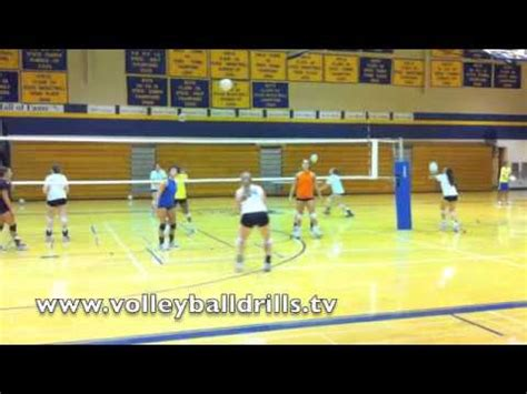 Volleyball Setting Drills For Advanced Players | beginner volleyball passing drill ladder passing youtube