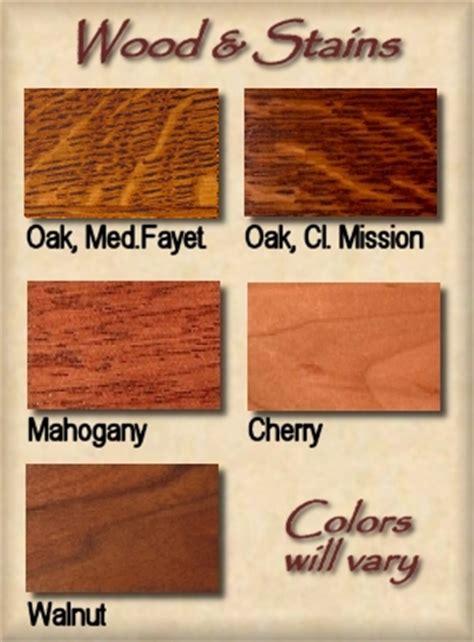 Wood/Stain Samples   Missionfurnishings.com, Doorbells