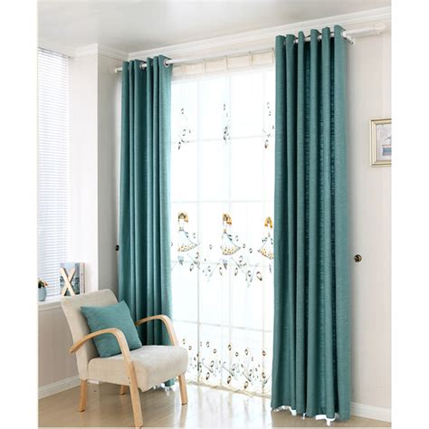 Blue Nursery Curtains Discount Blue Linen Cotton Blend Nursery Curtains