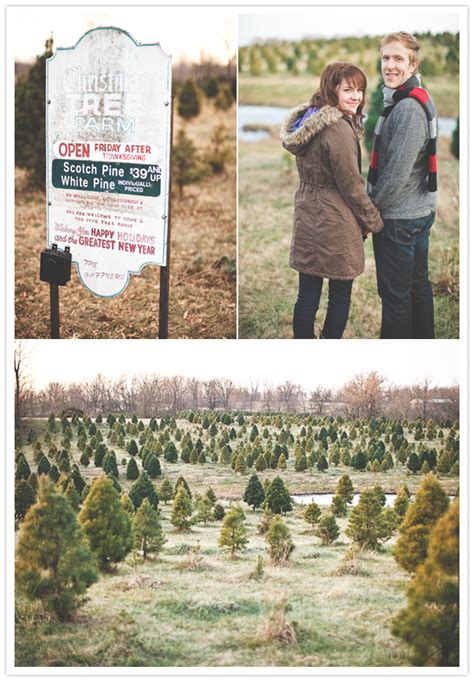 top rated christmas tree farm in kansas city a kansas city engagement sesh engagements 100 layer cake