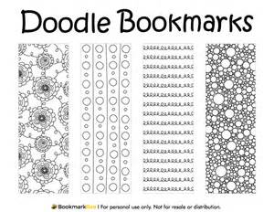 for doodle template printable doodle bookmarks