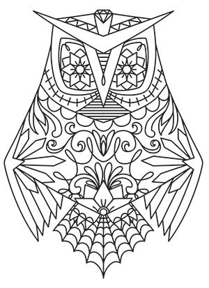 day of the dead owl coloring pages dia de los muertos owl urban threads unique and awesome
